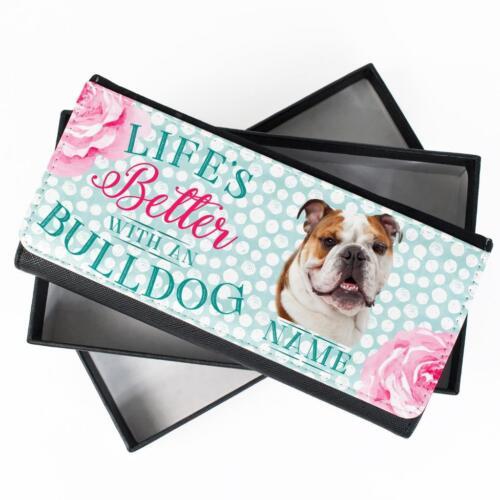 Personalizado De Damas Cartera Británico Bulldog Largo Moneda Cartera Regalo para Mujer KPL09
