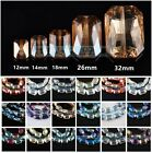 12mm 14mm 18mm 26mm 32mm Square Faceted Crystal Glass Charms Loose Beads Lot