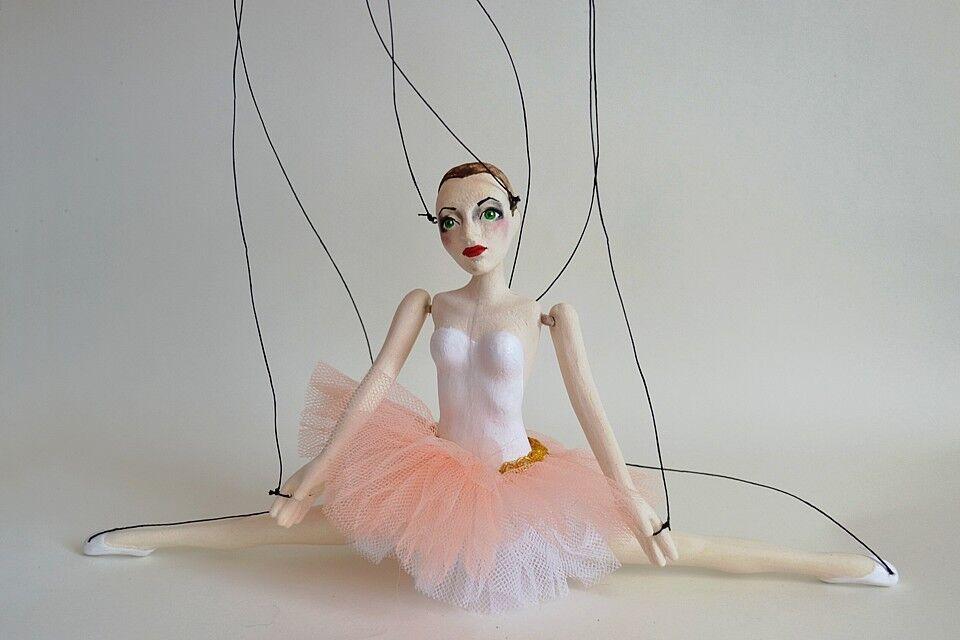 Little Rosa Balerina Marionette. Marionette. Marionette. Handmade clay puppet 12  9047f4