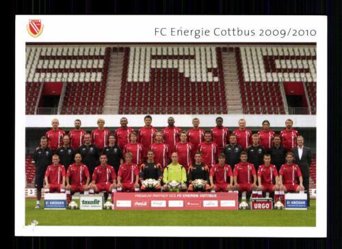 Original Mannschaftskarte Energie Cottbus 2009-10 TOP A34316