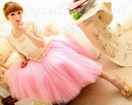 Petticoat 5 Lagen 5 lagig Tüllrock Prinzessin Kleid Rock Unterrock 34-42 R001