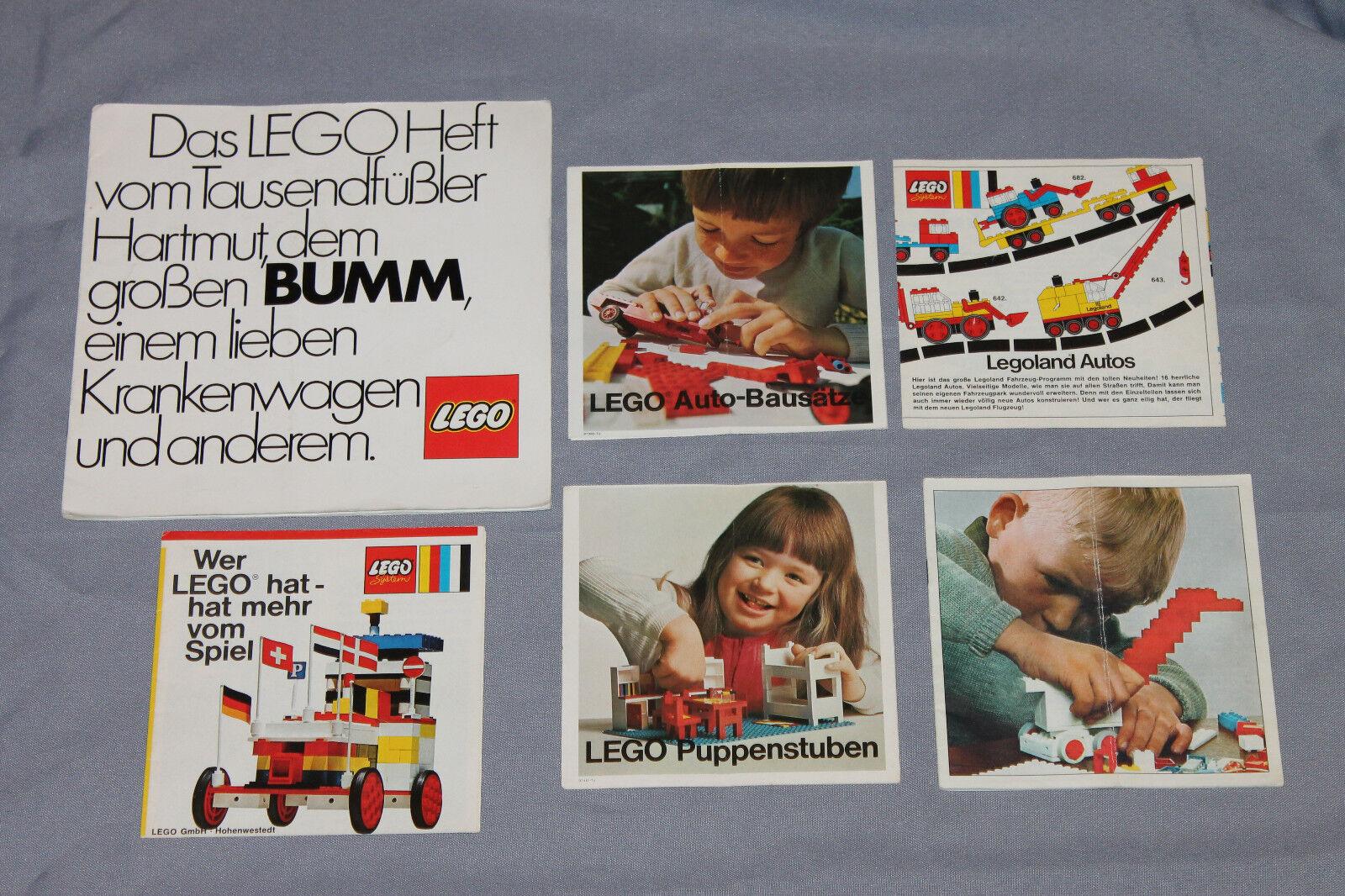 Lego System Beipackzettel   Katalog   Flyer 1966 Tausendfüßler Legoland Autos