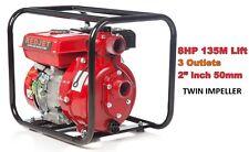 "8 HP 2"" & 1.5"" PETROL HIGH PRESSURE WATER TRANSFER PUMP FIRE FIGHTING IRRIGATION"