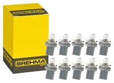 10x BREHMA BAX10d B8,5d Grau Instrumentenbeleuchtung 24V 1,2W Tachobeleuchtung