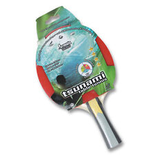 TSUNAMI Table Tennis Ping Pong Bat Classic 4 star Bat PIM-IN Rubber 1.8 mm