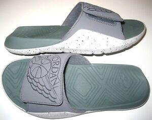 43b141ece Jordan Hydro 7 Mens Slides Flip Flops Sandals Dark Grey Clay Green ...