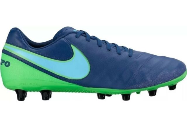 reputable site f9f33 c1526 Nike Tiempo Genio II Leather AG-Pro Football Boots - Coastal Blue UK 10 BNIB