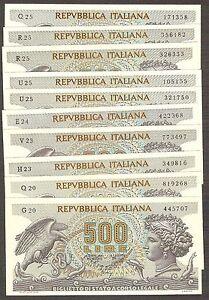 1x-500-lire-Aretusa-1970-Perfetto-FDS-UNC-banconote-da-mazzetta-23-02-1970