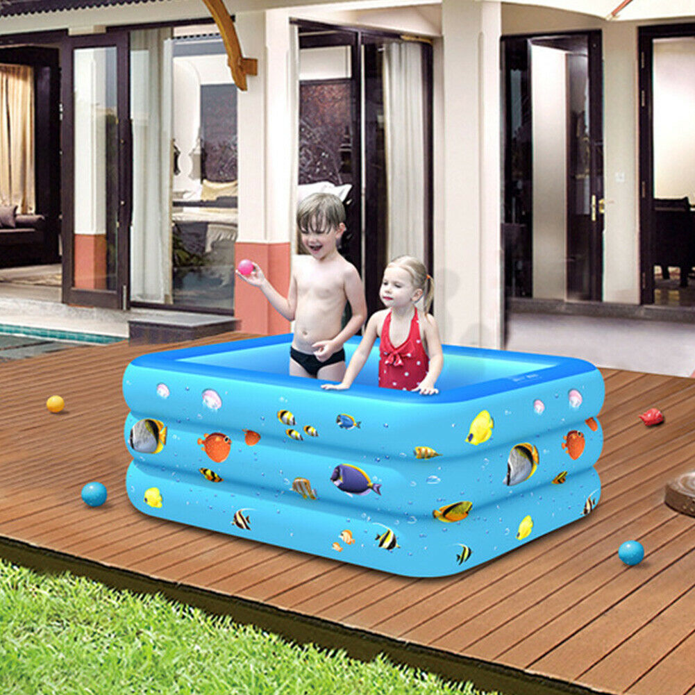 Inflatable Indoor Swimming Pool PVC Home For Kids Family Lounge Outdoor Backyard