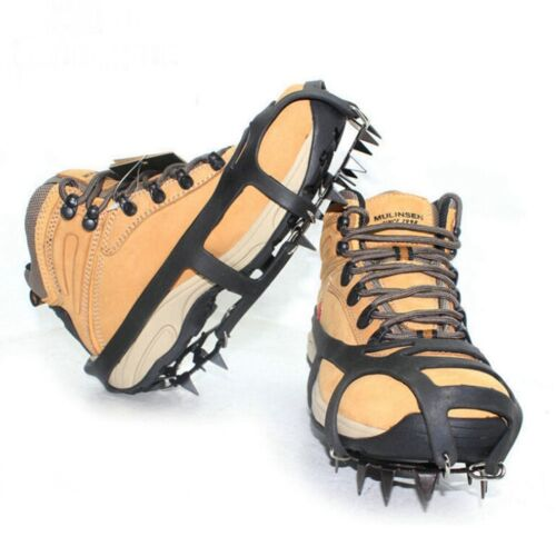 Ice Snow Anti Slip Spikes Grips Grippers Crampon Cleats For Shoes Boots