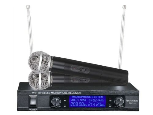 Blackmore BMP-61 VHF Dual Channel Wireless Microphone System Echo