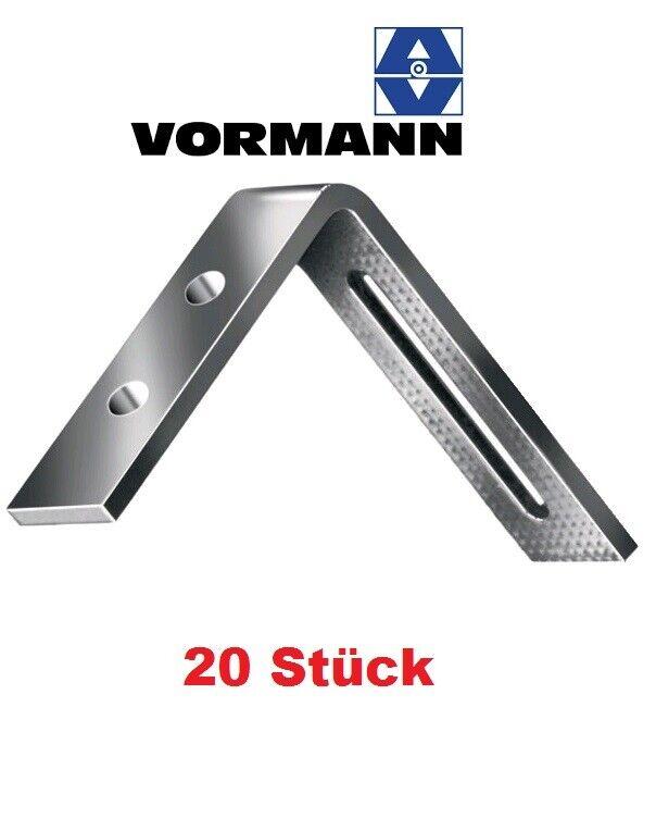 Zulassung 2,5mm stark 50 x Winkelverbinder Holzbauwinkel Winkel verzinkt 90x90