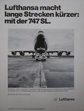 6/1977 PUB LUFTHANSA BOEING 747 SL KOMBI VOLKSWAGEN TRANSPORTER GERMAN AD