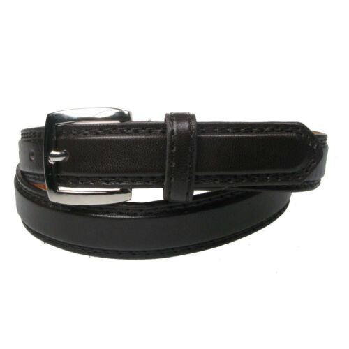 """New Genuine Plain Leather Lined Trouser Belt 1/"""" wide sizes 28/""""-44/"""" LH1004"""