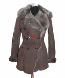 Short Toscana Brown Spanish Sheepskin Coat Marino Amanda Jacket Leather Ladies wTExnxI