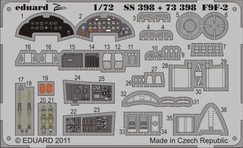 Eduard Zoom SS398 1//72 Grumman F9F-2 Panther Hobby Boss