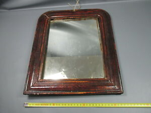 ancien miroir avec encadrement en bois ann es 1950 old mirror ebay. Black Bedroom Furniture Sets. Home Design Ideas