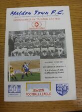 05/10/1996 Maldon Town v Hullbridge Sports [FA Vase] .  We are pleased to be abl