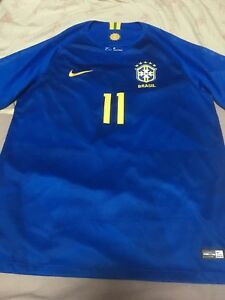 save off 9b59e 30820 Details about 100% Official Brazil Away 2018 World Cup Philippe Coutinho  Jersey Original Shirt