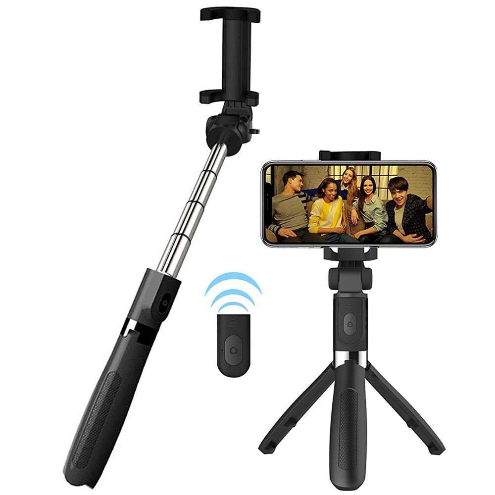 Selfie Tripod Phone Holder Stick Monopod Bluetooth