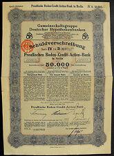 Berlin Preußische Boden-Credit-Actien-Bank Schuldverschreibung bond uncancelled