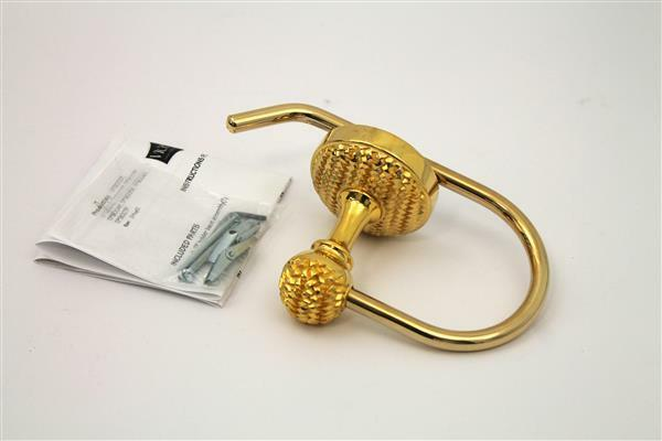 Vicenza Designs TP9003 Cestino French Toilet Paper Holder, Polished Gold