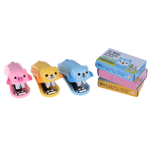 Mini Animal stapler and booking nails paperBinding school stationery supplie.dr