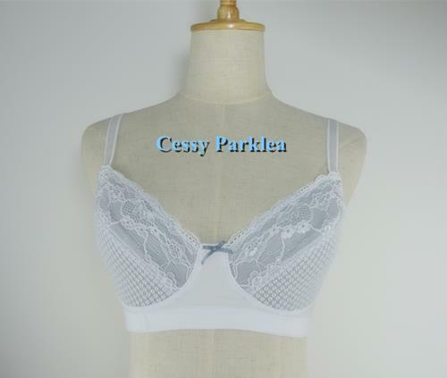 """Germany /""""Bpc/"""" Mesh Lace Non-Padded Non-Wired Cups Full Coverage Bras Black White"""