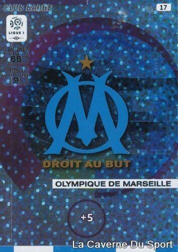 LOGO OM OLYMPIQUE DE MARSEILLE CARD ADRENALYN 2016 PANINI 017 CLUB BADGE