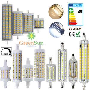 r7s led dimmbar j78 j118 j189 smd leuchtmittel halogenstab fluter brenner lampe ebay. Black Bedroom Furniture Sets. Home Design Ideas