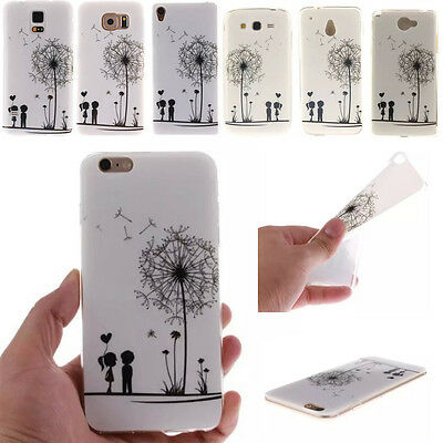 Silicone Dandelion Patterned Protector Skin Back Case Cover For Mobile Phones