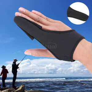 Fishing-Single-Finger-Imitation-Leather-Stall-Protector-Elastic-Casting-Glove-SD