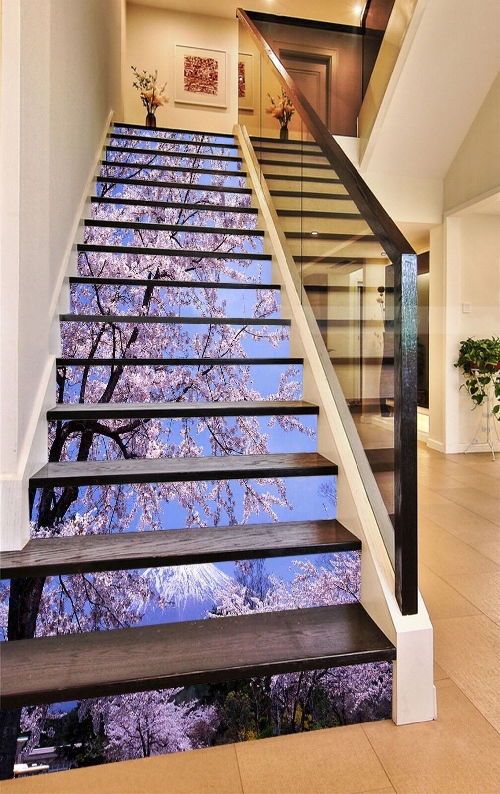 3D Flower tree 357 Stair Risers Decoration Photo Mural Vinyl Decal Wallpaper UK