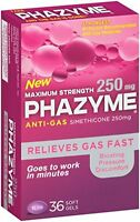 Phazyme Maximum Strength Softgels, 36 Each on sale