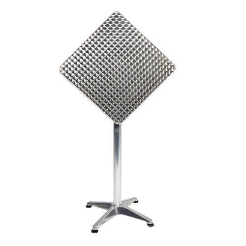 Mojawo® 5-tlg Bistrogarnitur Balkonset 60x60cm Aluminium Textilen Anthrazit