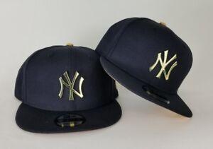 New Era Navy Blue New York Yankee Gold Metal Badge Logo 9Fifty ... 3d955e764