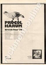Procol Harum Exotic Birds Fruit CHR1058 Coventry Theatre MM4 LP/Tour Advert 1974
