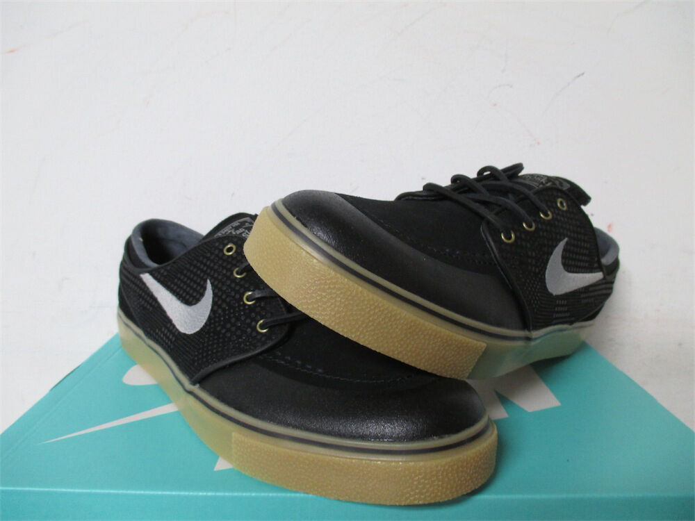 Nike SB Stefan Janoski SE Black Gum Brown Gold Grey Sz 13 631298-020