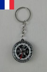 Porte clé Boussole 35 mm Instrument de Navigation Magnétique de Poche Randonnée