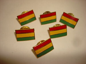 Collection Of 6 BOLIVIA FLAG Tie Pins Lapel pins With Clutchback Catches