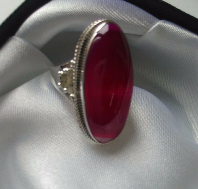 STERLING 925 SILVER HANDIMADE JEWELRY SUBLIME NATURAL BOTSWANA AGATE LADY RING