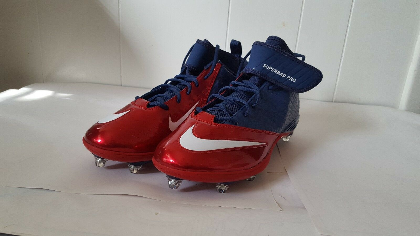 NIKE SUPERBAD LUNARLON PRO CLEATS 544762-413 NAVY RED MEN'S Price reduction