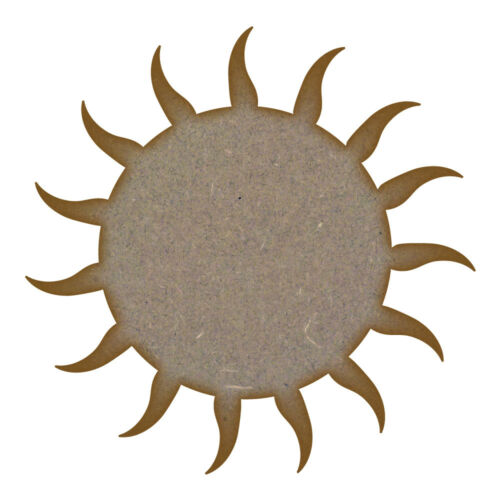 Sun  MDF Laser Cut Craft Blanks in Various Sizes