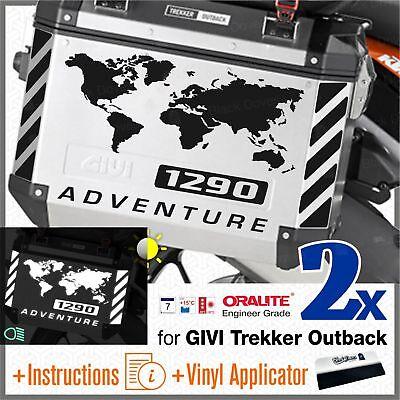 2x stickers biancoarancio Compatible ktm 1290 ADV touratech givi trekker outback