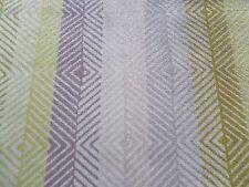 Harlequin Curtain Fabric EZRA 0.5m Lilac/Citrus Chevron Stripe VELVET 50cm