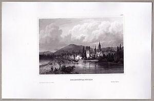 Heilbronn-am-Neckar-Ansicht-mit-Raddampfer-Stich-Stahlstich-von-1845