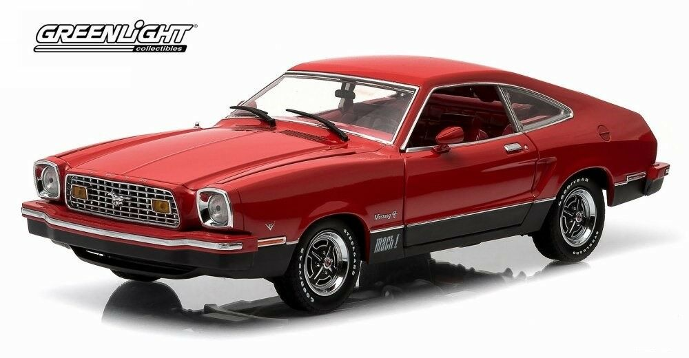 FORD MUSTANG II MACH 1 HARD TOP rouge 1976 vertLIGHT 12867 1 18 rouge rouge