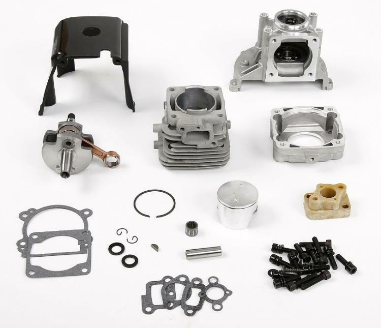 1/5 scale Rovan 4 Bolt 36cc Gas Engine Kit fit 1/5 Hpi Km Rv Baja 36cc engine