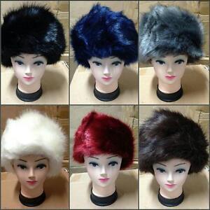 a7d14cd489f Ladies Warm Furry Faux Fox Fur Hat Russian Women Winter Cossack Cap ...