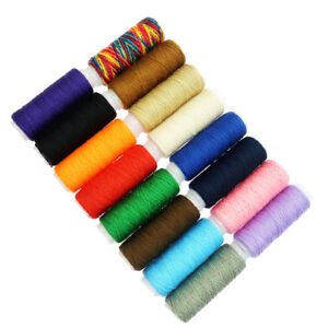 16-Pieces-54-Yards-Each-Sewing-Thread-Cord-Hand-Machine-for-Leather-Crafts